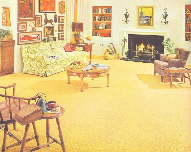Early American Living Room 1960s Decor