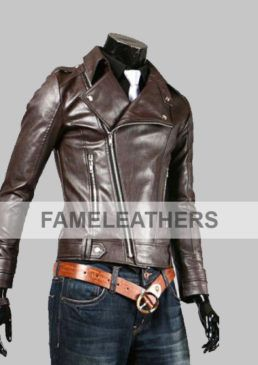 Great leather jacket that can be shipped all over the globe.