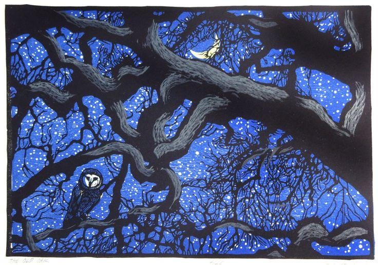 The Old Oak ~ Linocut, 11.5 x 8 inch ~ Rik Olson