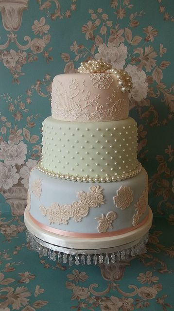 Luxury pastel wedding cake- Classy cakes online pin-board by Asher Socrates.