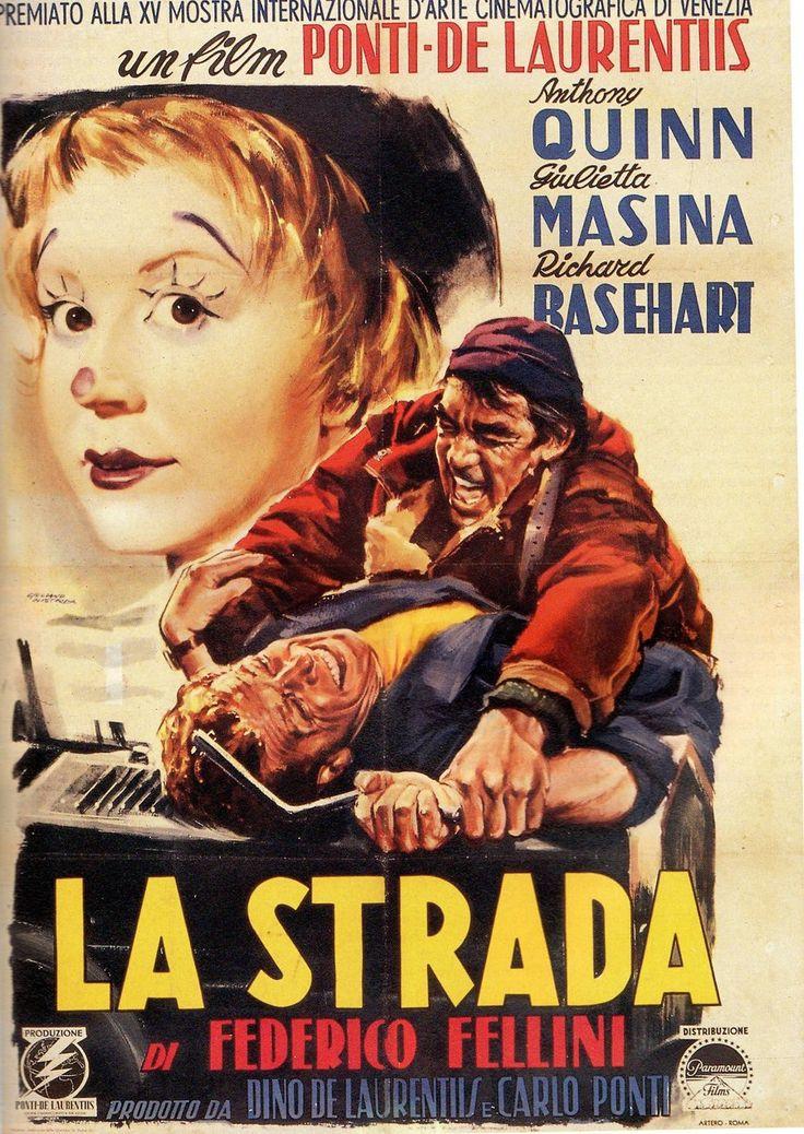 La Strada by Federico Fellini. The best road movie ever made!