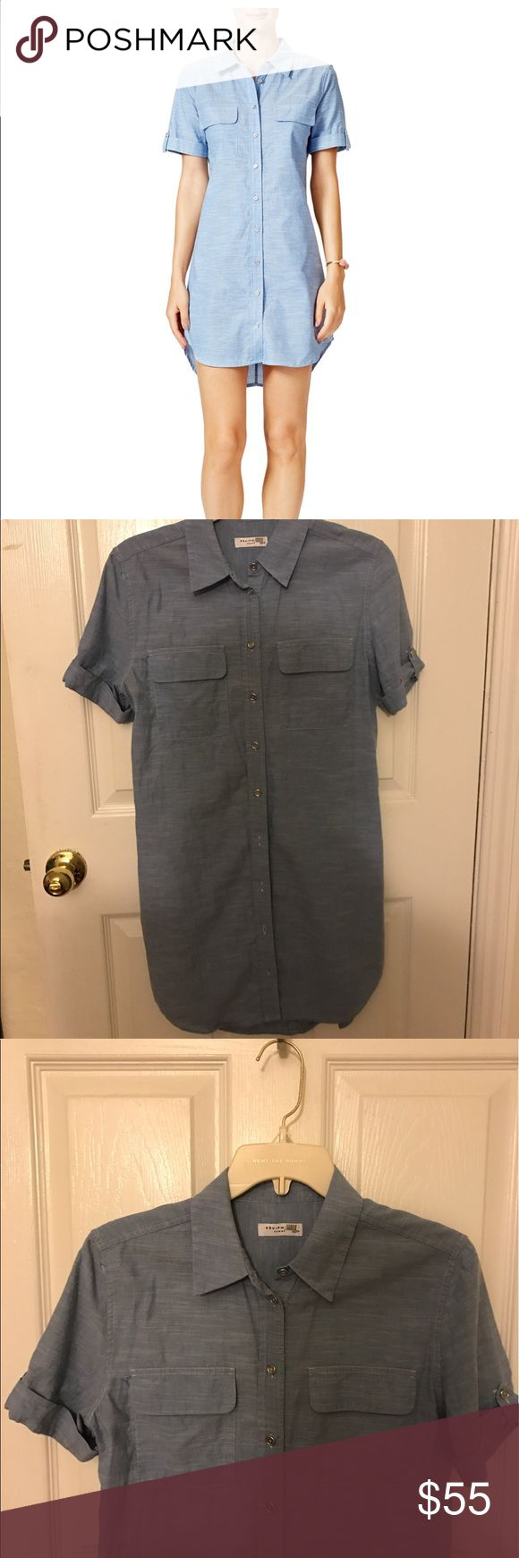 Chambray shirt dress Adorable chambray shirt dress 👗. Only worn a few times, light weight and super comfy! Equipment Dresses