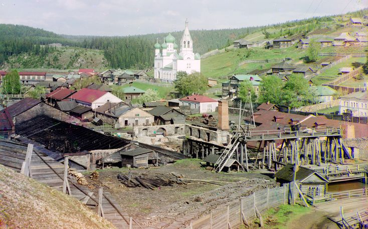Russia in color, a century ago | Photos | The Big Picture | Boston.com Factory in Kyn, Russia, belonging to Count S.A. Stroganov, 1912. Google Map, (Prokudin-Gorskii Collection/LOC) #