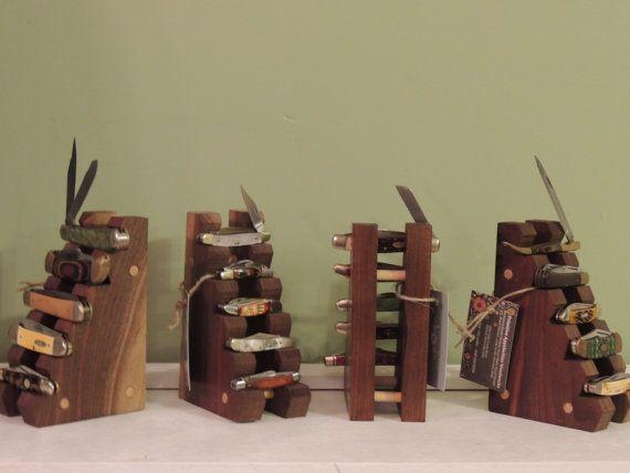 Hand Made Black Walnut Wooden Pocket Knife by PrimitiveAppalachian