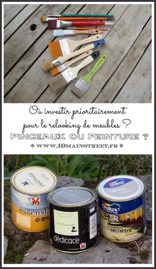 Pinceaux ou peinture o¹ investir prioritairement pour le relooking de meubles shopping
