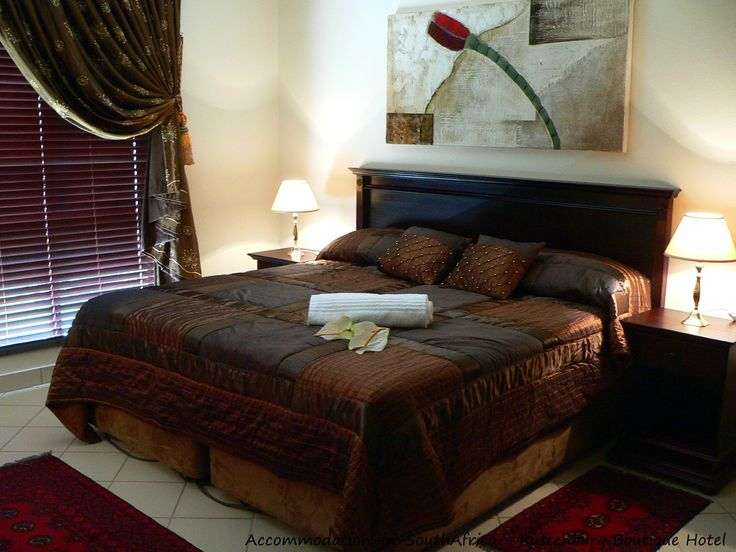 Luxurious rooms at Rustenburg Boutique Hotel. http://www.accommodation-in-southafrica.co.za/NorthWest/Rustenburg/RustenburgBoutiqueHotel.aspx