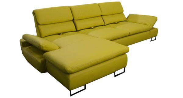 Designersofa mit bequemen Funktionen wie Sitztiefenverstellung, Schlaffunktion und mehr. Das moderne Design dieses Sofas ist typisch für Divano.