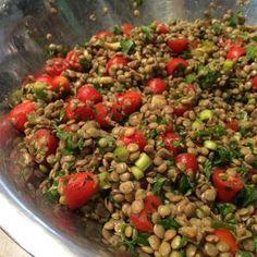 Salada de lentilha ao vinagre balsâmico