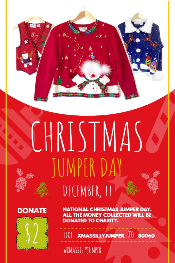 Christmas Jumper Day Invitation Poster Idea Christmas Jumper Day