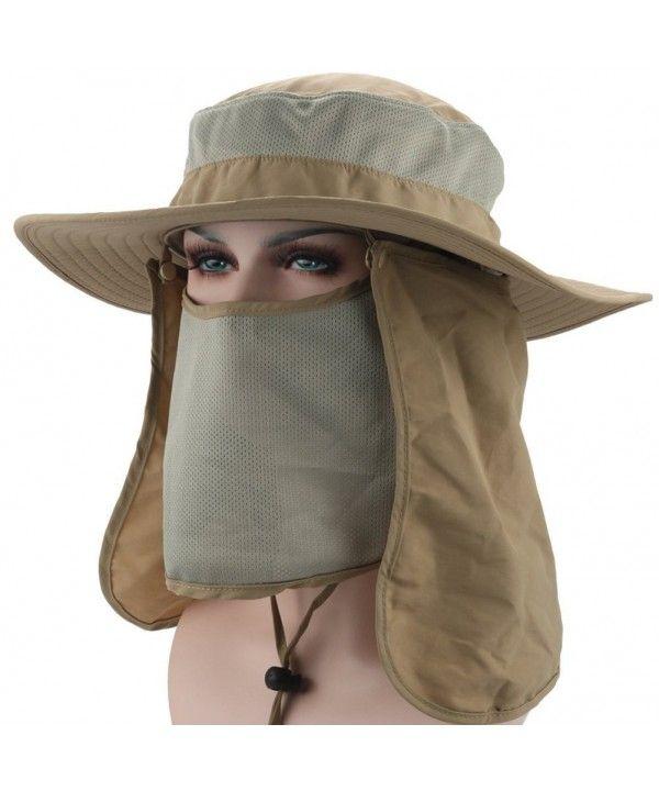 Outdoor Sport 360 Deg Quick Drying Uv50 Protection Fishing Cap With Removable Sun Shield Khaki Cj184c85dlc Hats Caps M Mens Sun Hats Fishing Hat Sun Hats