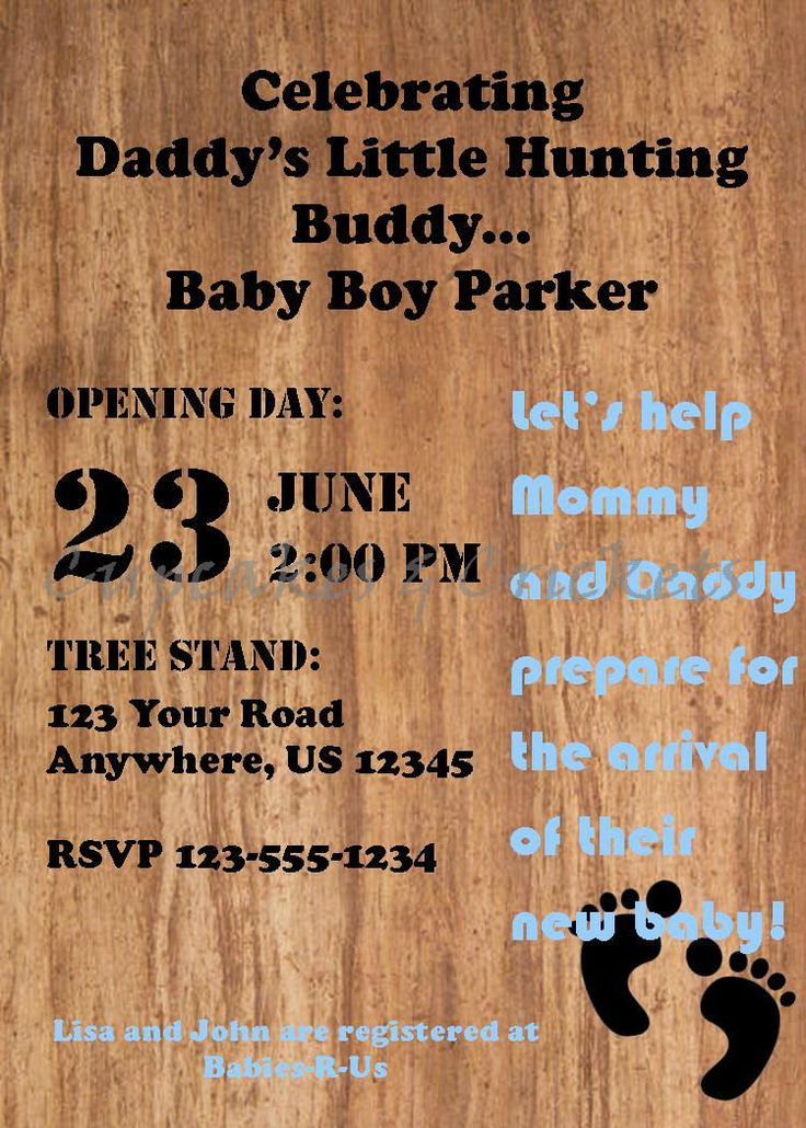 Hunting And Fishing Baby Shower Invitations - The Best Fish Of 2018