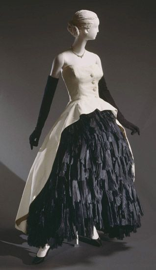 Dress    Cristobal Balenciaga, 1951    The Philadelphia Museum of Art: Evening Dresses, Cristóbal Balenciaga, Balenciaga Spring, Evening Gowns, Philadelphia Museums, 1951, Black Silk, Balenciaga Dresses, Dresses Cristob