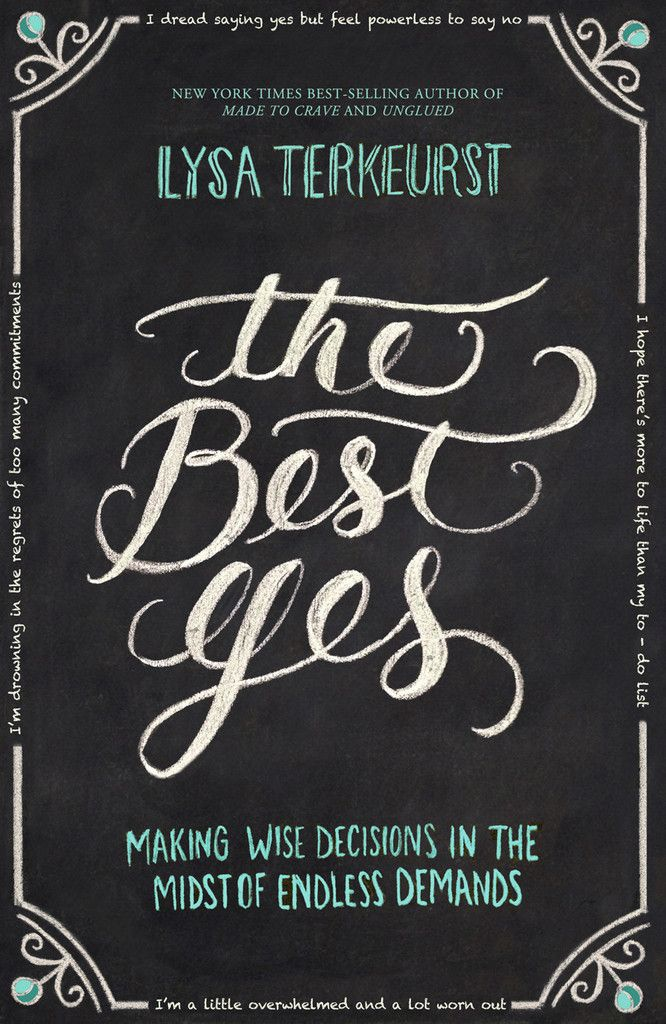 "The Best Yes  e-Order 1 copy today and you will receive for FREE….  The Best Yes Audio BookNew exclusive mini eBook from Lysa TerKeurst 2 minute ""Thank you!"" video from Lysa25 beautiful, sharable, printable quote images from the bookA keynote video message from Lysa TerKeurst about the heart of The Best Yes"