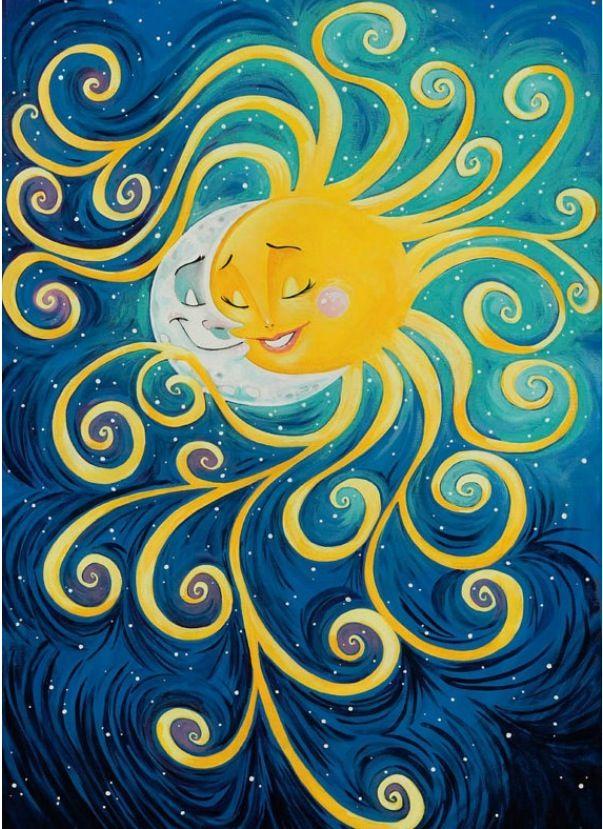 Sun And Moon Love Art Pinterest