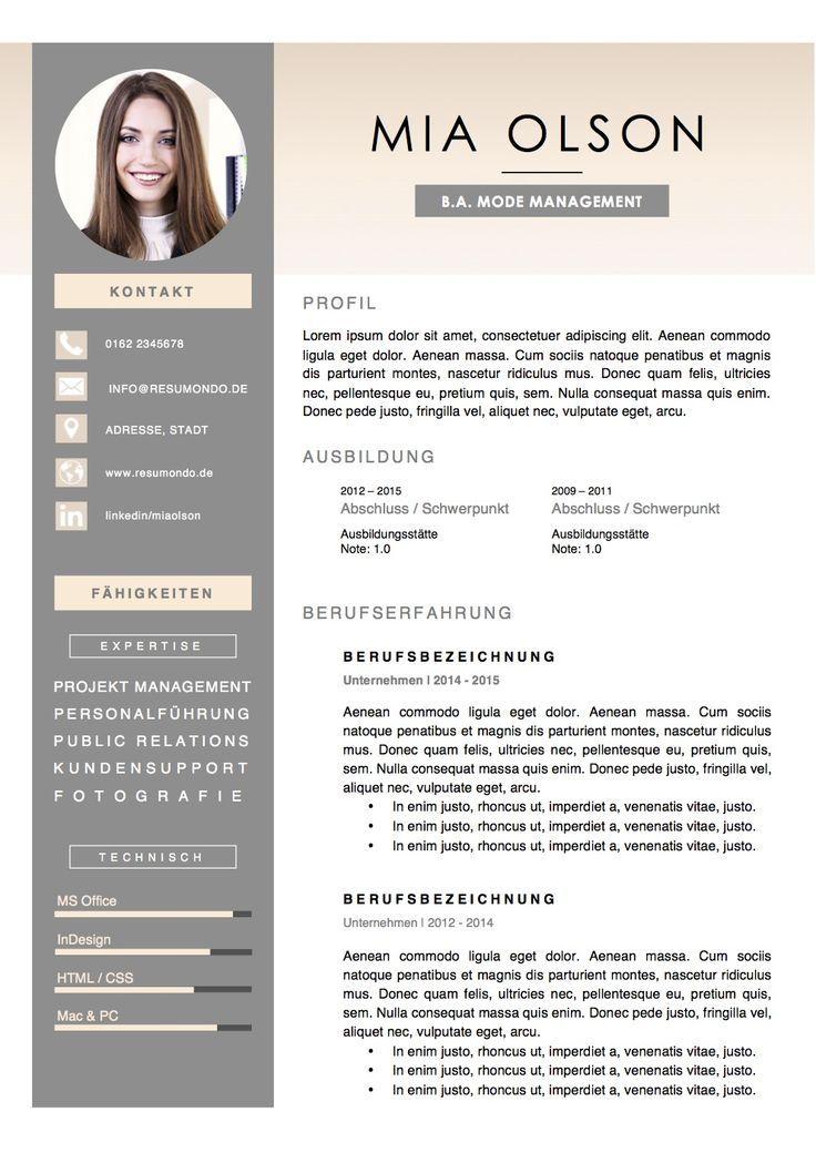 Lebenslauf Design Lebenslauf Layout Mediendesign Ideen
