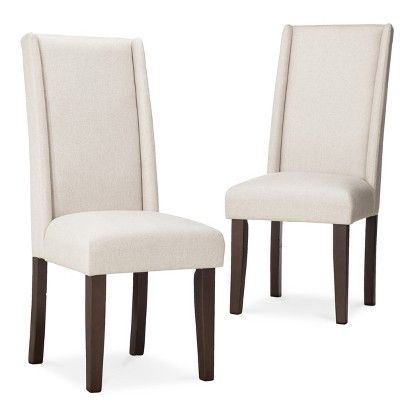 wingback dining chair set of 2 chairs dining rooms and target