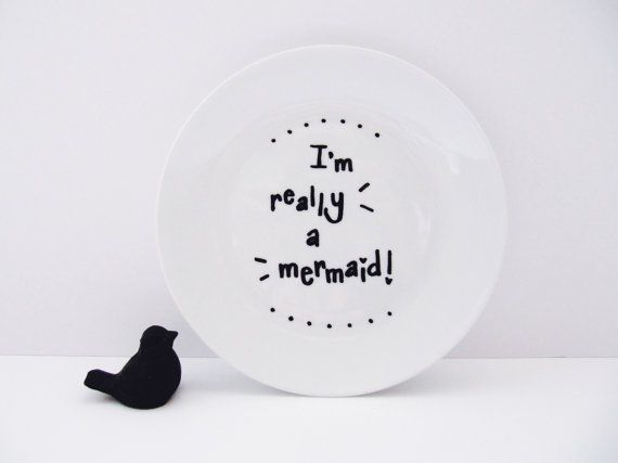 I'm Really A Mermaid Cute Hand Painted Small by LilyLovesShopping