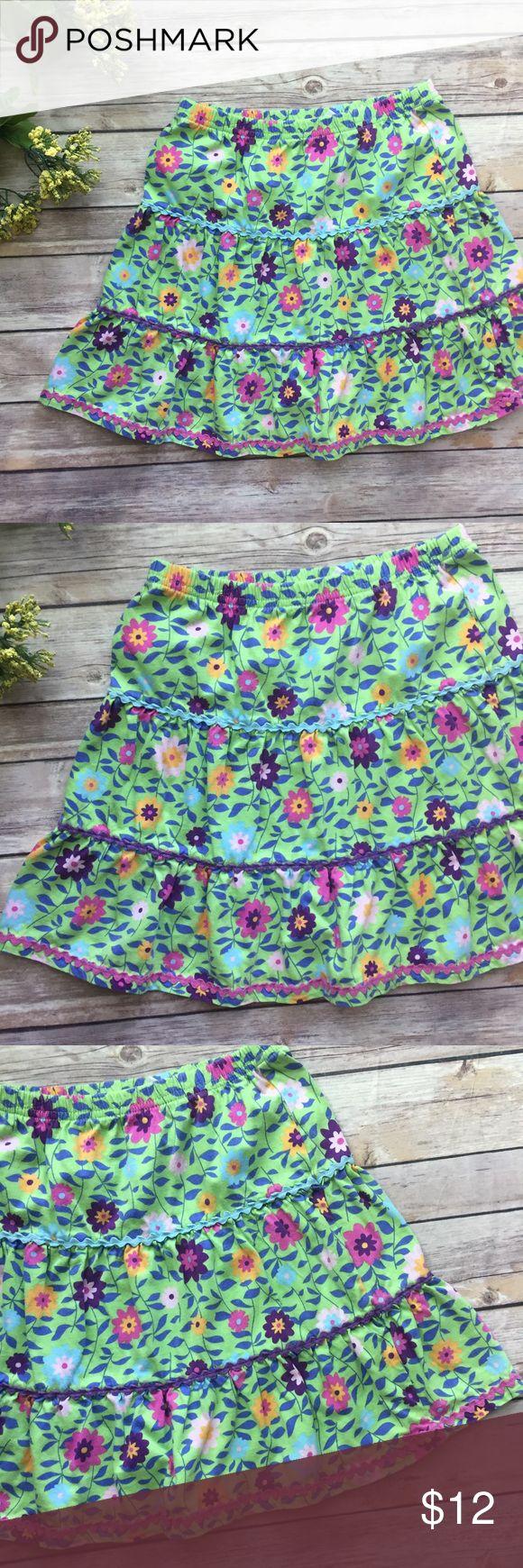 Hanna Andersson Skirt-110 Green floral Hanna Andersson skirt. Size 110 or US 5-6. VGUC. Hanna Andersson Bottoms Skirts