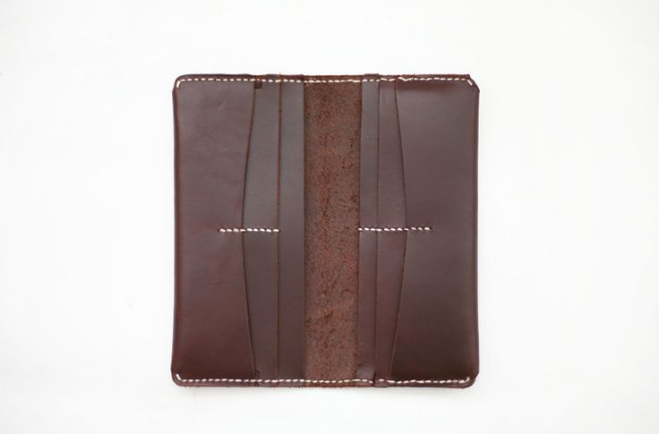Full-size Leather Wallet - Dark Brown-SR