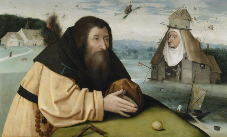The Temptations of Saint Anthony / Las tentaciones de San Antonio // 1500 - 1510 // Taller de El Bosco
