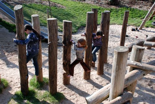 Climbing Stilts - Playground Build & Design | Natural Child Play | Earth Wrights Ltd