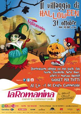 Giovedì 31 Ottobre dalle ore 16.00 vieni a scoprire il villaggio di Halloween! Divertiti con noi. Giochi, foto ricordo, truccabimbi, horror...