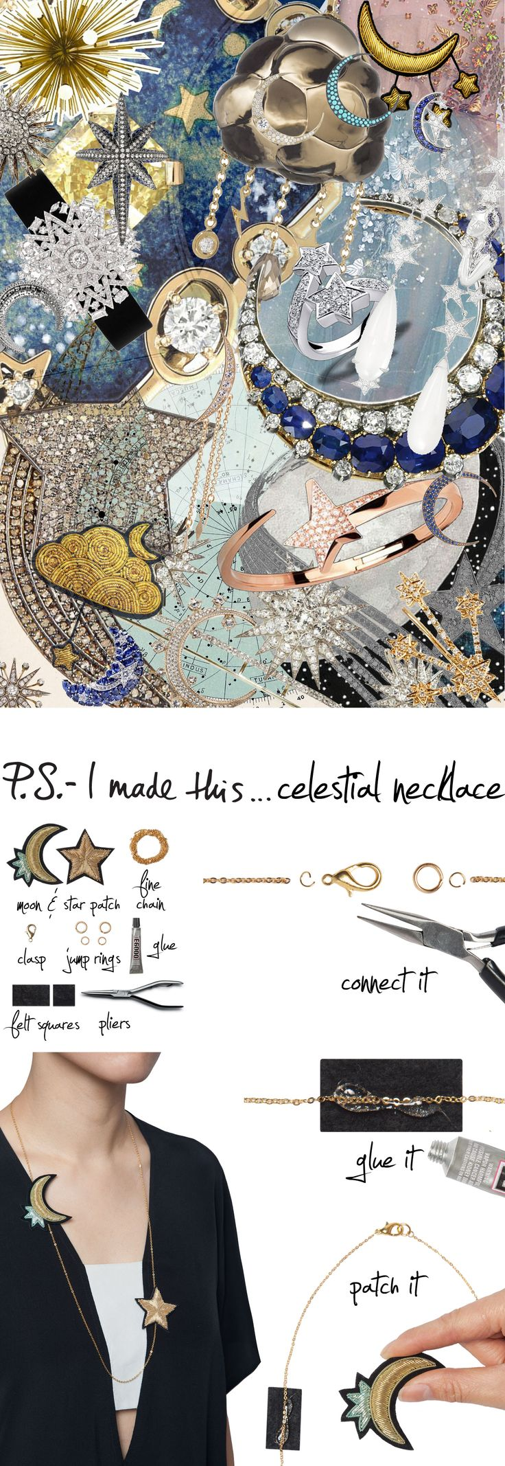 P.S.- I made this...Celestial Necklace #PSIMADETHIS #DIY