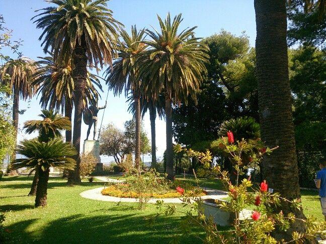 Achillion Palace in Corfu island