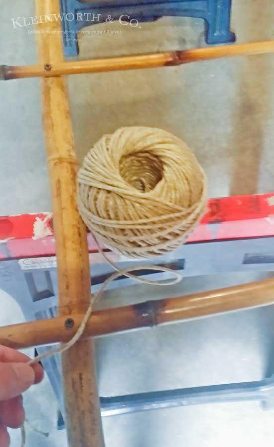 Bamboo Blanket Ladder