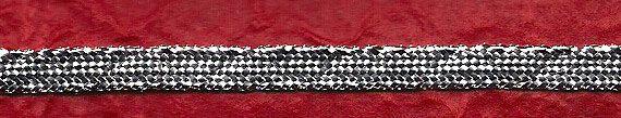 Nastro in filo lurex argento 76/3/A di ManifatturadiBreme su Etsy, €7.28
