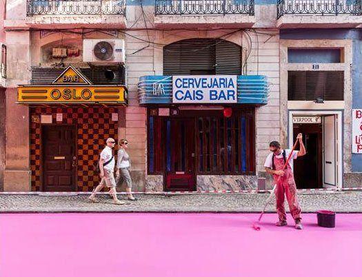 Pink street @ Lisbon, Portugal