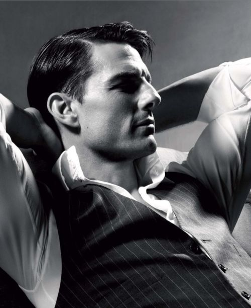 Tom Cruise... Digging the throwback style of this photo. I think he looks a lot like Gene Kelly in this shot.