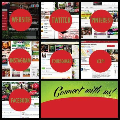 Are you in these places? Connect with us!    Website- http://buff.ly/Q3TaIW  Twitter- http://buff.ly/Q3T97N  Pinterest- http://buff.ly/Q3TaJ1  Instagram- http://buff.ly/Q3T97R  Foursquare- http://buff.ly/Q3T9ob  Yelp- http://buff.ly/Q3TbfN