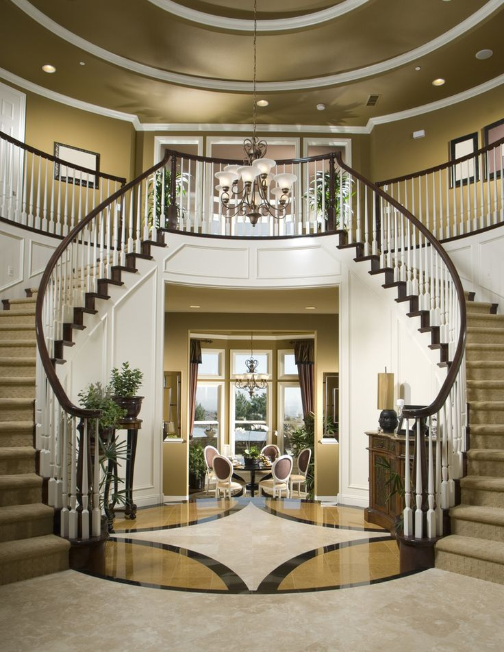 36 Different Types Of Home Entries Foyers Mudrooms Etc Curved StaircaseStaircase IdeasSmall Dining RoomsFoyer