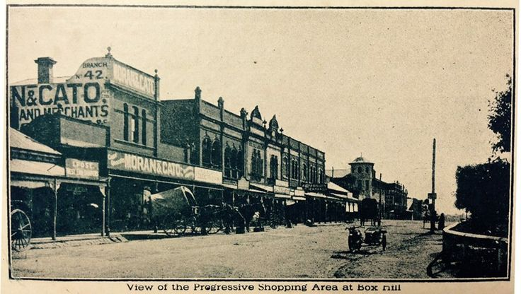 Whitehorse Rd, Box Hill, looking at Station St Late 1920s