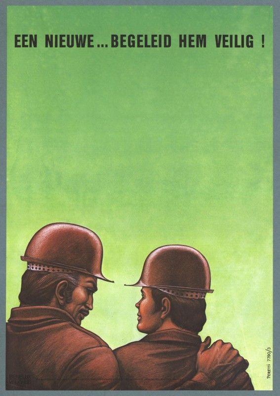 Affiches anciennes de sécurité au travail aux Pays Bas affiche securite pays bas 35 567x800