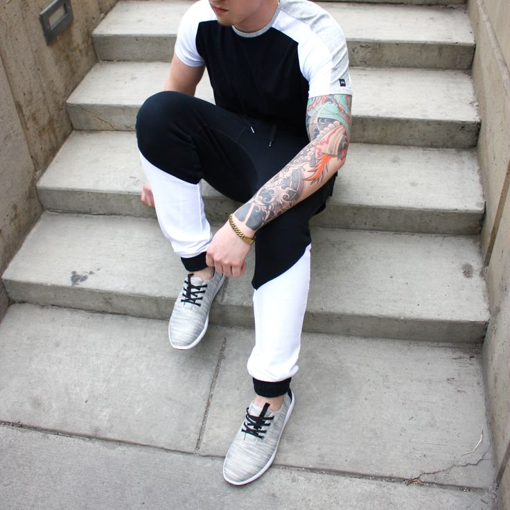 Confidence. The must have accessory.  #fashion #musthave #fitness #blackandwhite #tattoo #workout #menswear #new #outdoors Shop this look at www.kixs.ca