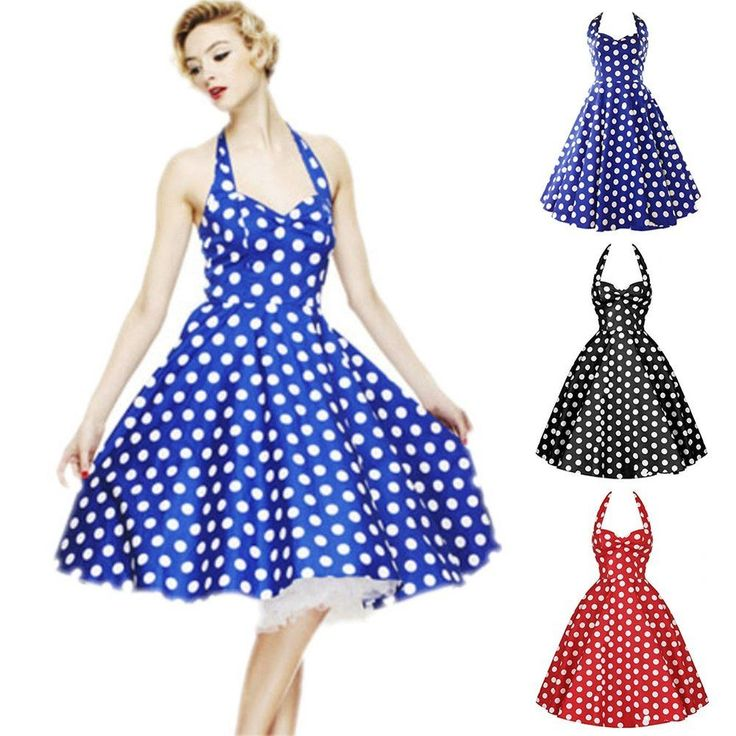 Women 50s 60s Swing Vintage Retro Housewife Pinup Rockabilly Evening Party Dress #Unbranded #Sexy