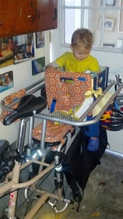 Nicolle's Originals: Xtracycle Milk Crate Seat and Yepp Seat
