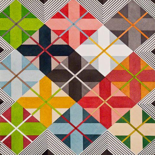 Joe Kievitt: Designspir Joe, Design Milk, Quilts Inspiration, Bold Graphics Geo, Graphics Design, Colors Fractals, Art Typography Drawings, Artists Joe, Joe Kievitt