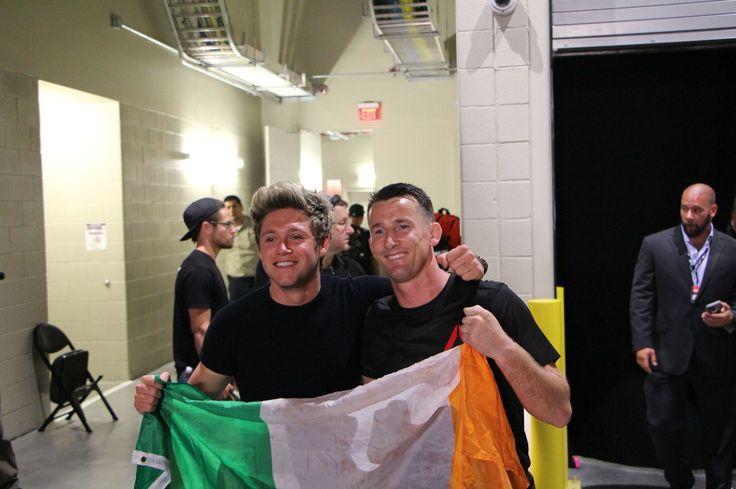 Niall last night at UFC 202 in Las Vegas