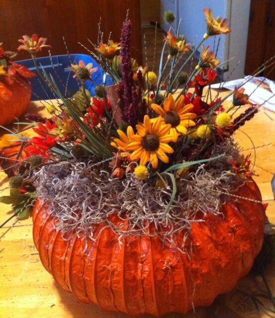 Dryer vent pumpkins