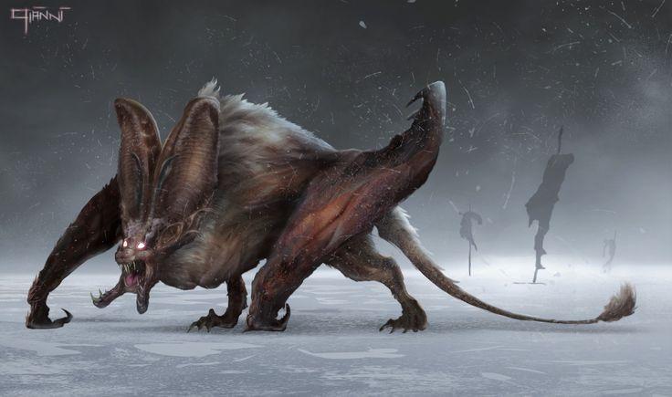 ArtStation - Bat creature, Gianni Manuali