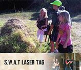 Swat Laser games can be played by kids from 8 years and older, both guys and gals. The laser gun sends out a harmless infra red beam (much like your tv remote), at a very high frequency which allows for accuracy and a good range of 70 – 100 meters.