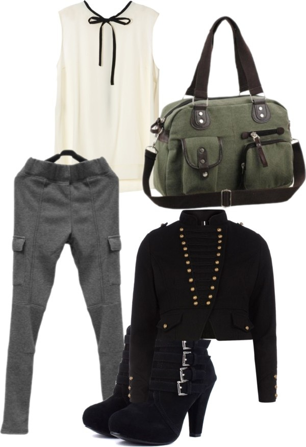 """""""Military Style"""" by tvsutton on Polyvore. Cute military style outfit."""