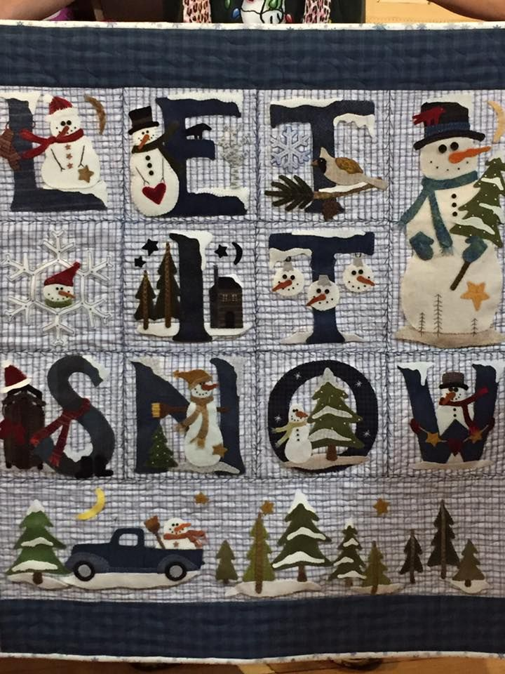 2738 best Quilting - Children's, Novelty and Holiday images on ... : snow quilts - Adamdwight.com