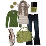 So ready for fall! Green & Brown
