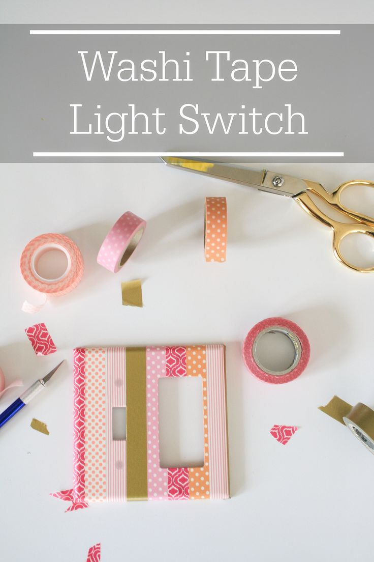Quick and simple DIY Washi Tape Light