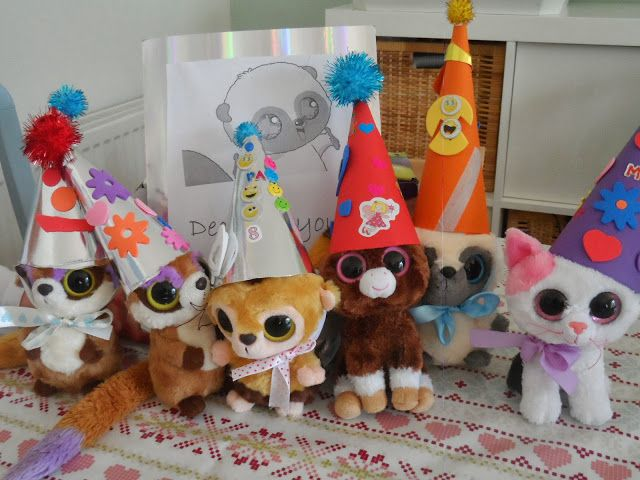 Make your own Beanie Boo party hats