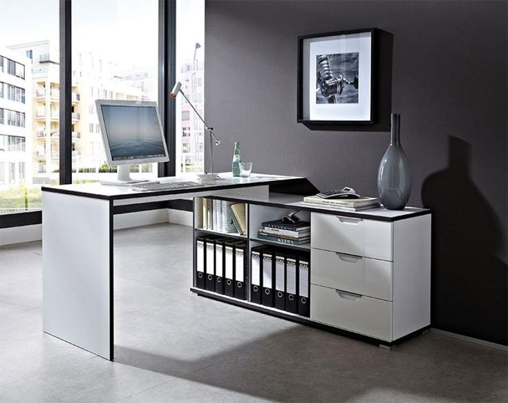home etc 3 drawer writing corner desk